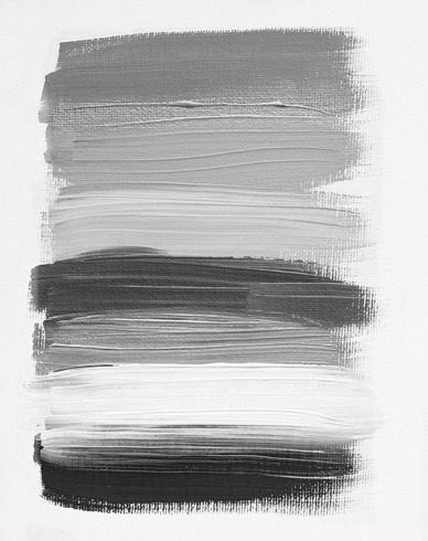 By mixing black and white, you get varying degrees of grey.