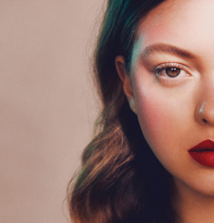 Makeup by Lou Dartford for Volt Cafe. Luisa Laemmel @ Elite, Photographed by Sarah Cresswell. Hair by Betty Bee