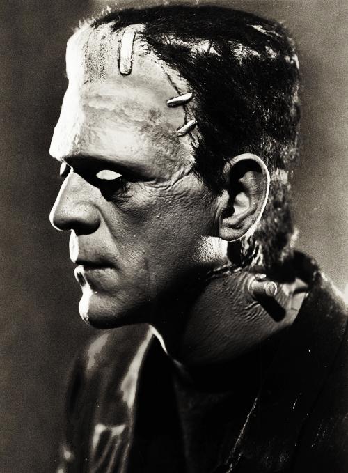 Boris Karloff as Frankenstein in Bride of Frankenstein, 1935.