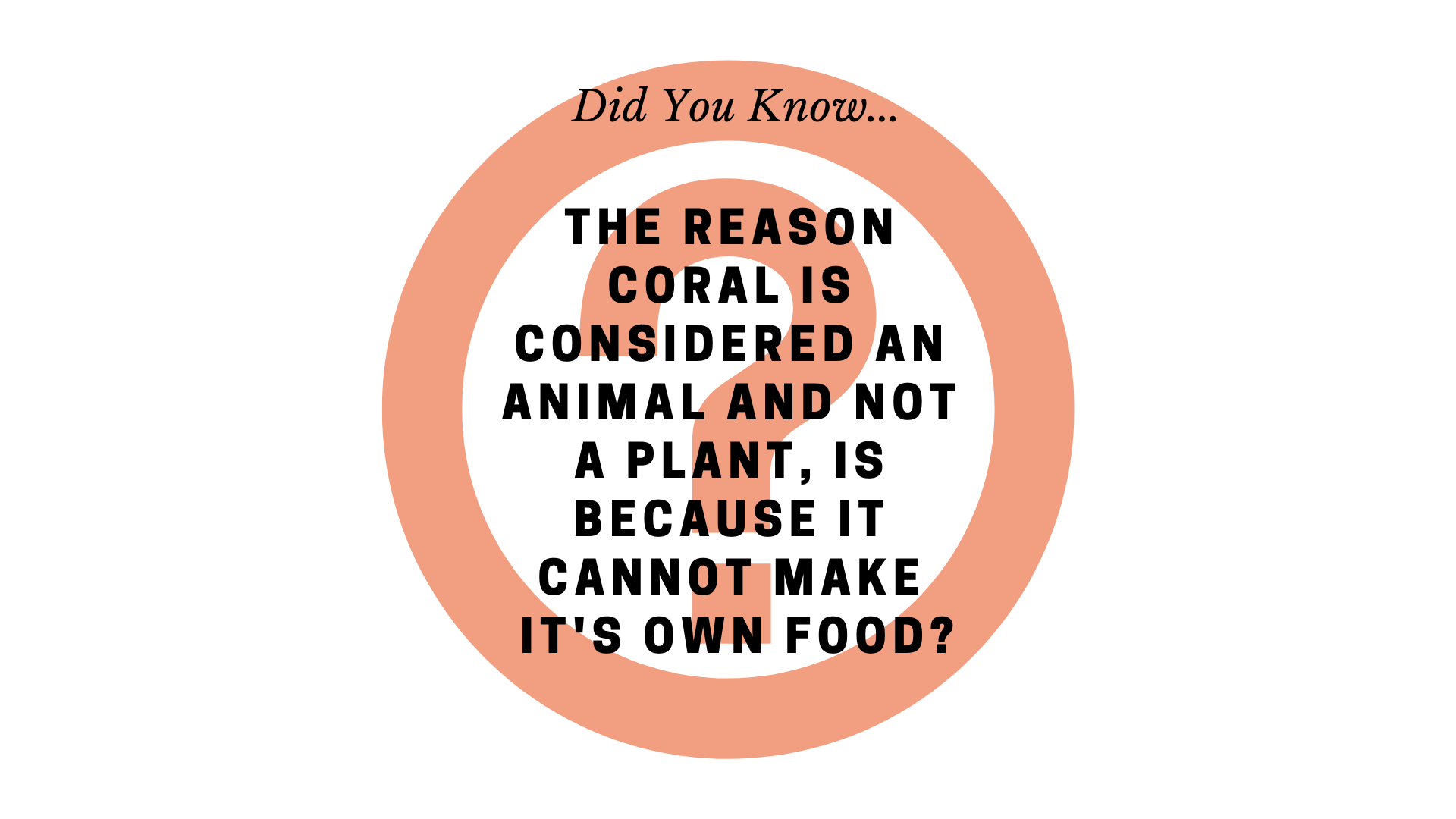 The reason coral is deemed an animal and not a plant, is because it cannot make it's own food_.png