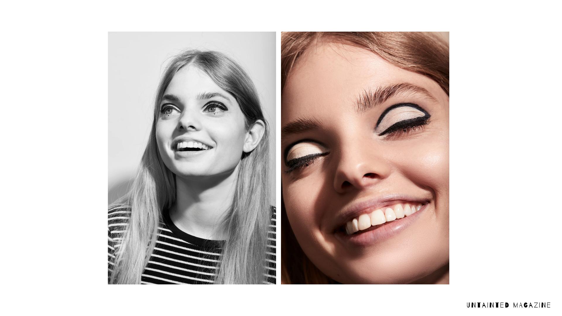 Grace wears  Zao Felt Tip Eyeliner in Black Intense  and  Zao Matte Eyeshadow in Ivory 201