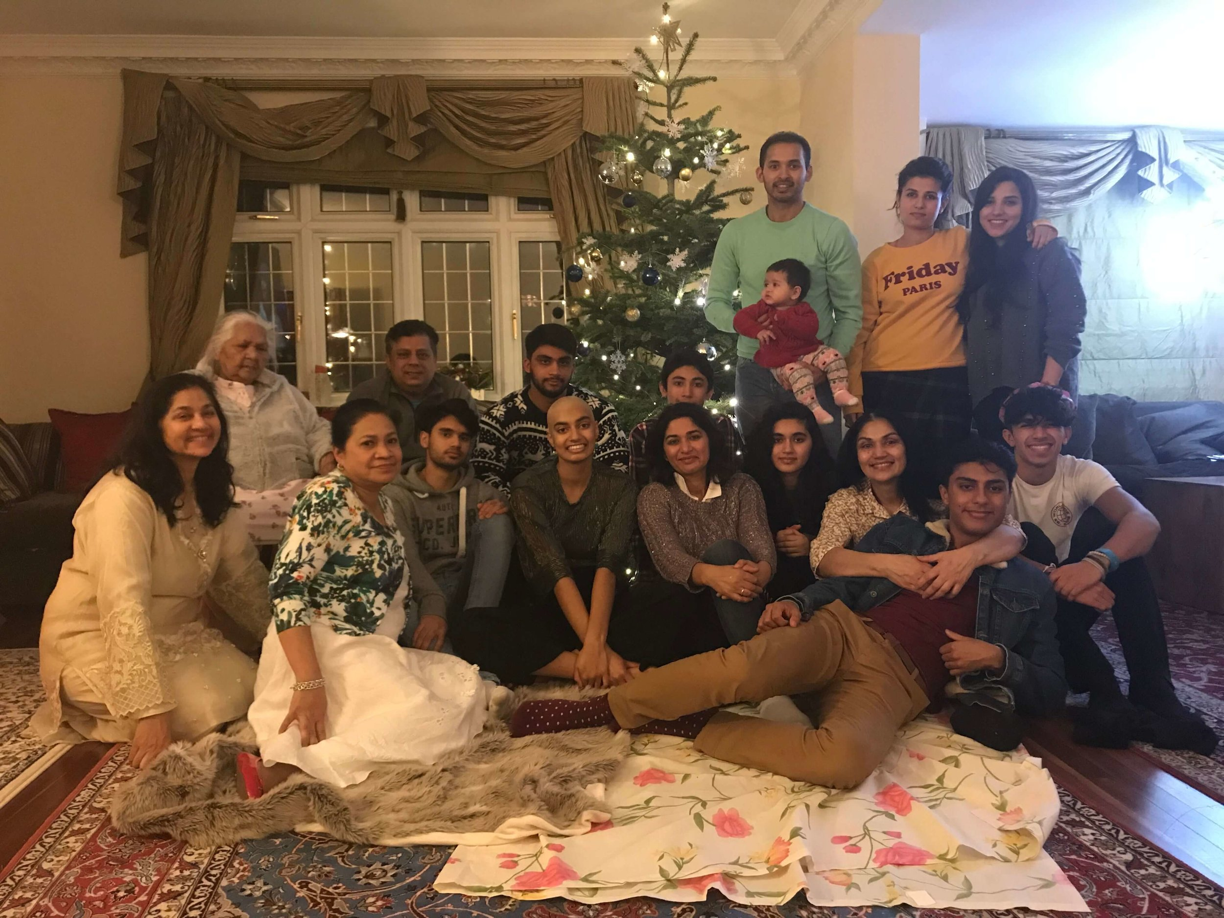 Image courtesy of Ameera | Family Christmas with all the cousins and aunts and uncles that were there for Ameera everyday. (Her dad was away looking after his mum for Christmas Day).