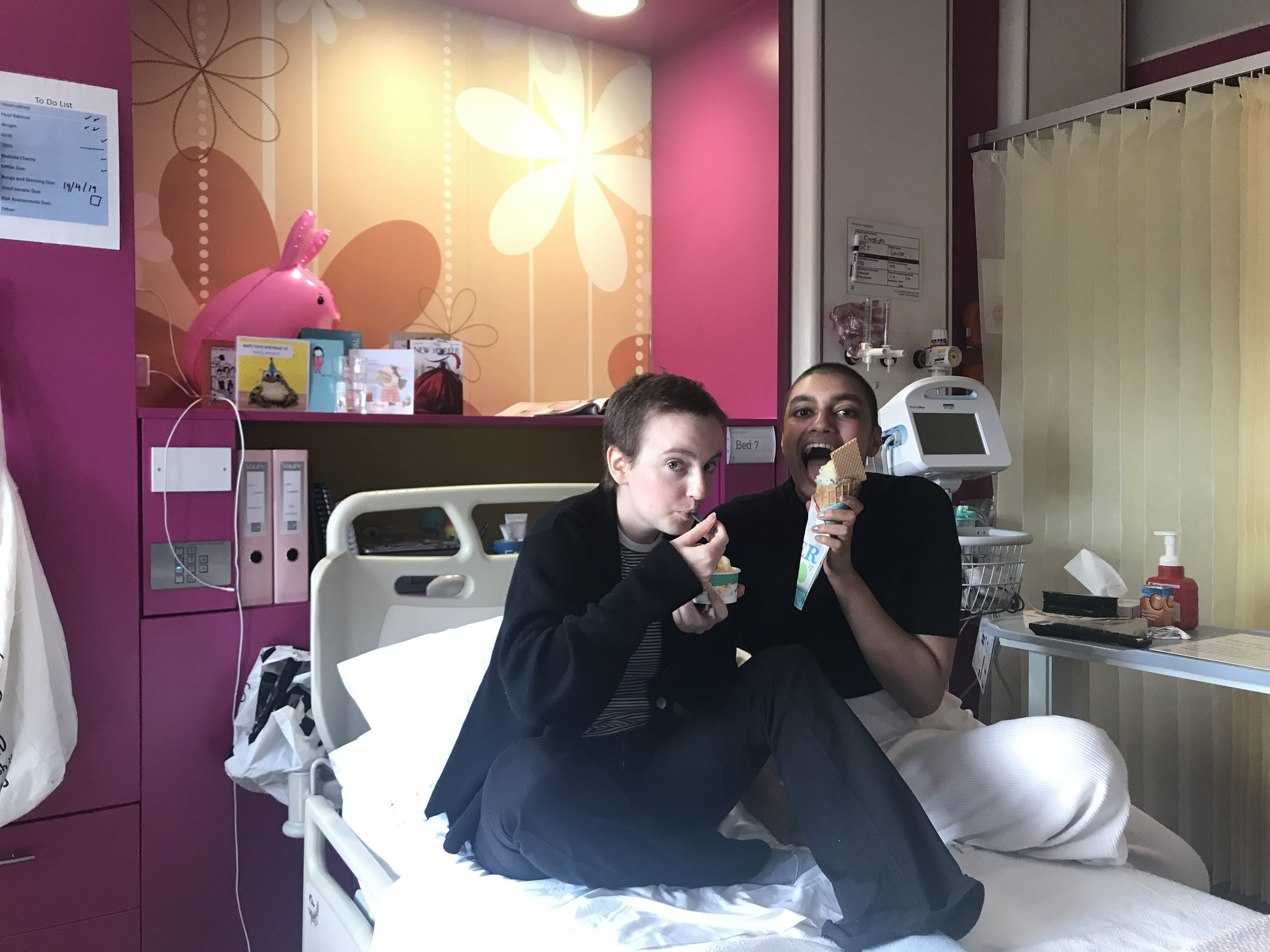 Image courtesy of Ameera | Ameera and Cressi celebrating birthdays and remission days