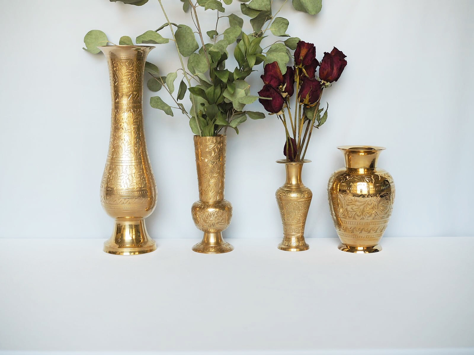 VINTAGE etched VASES RENTAL price per: $5.00 - 5 available in total*