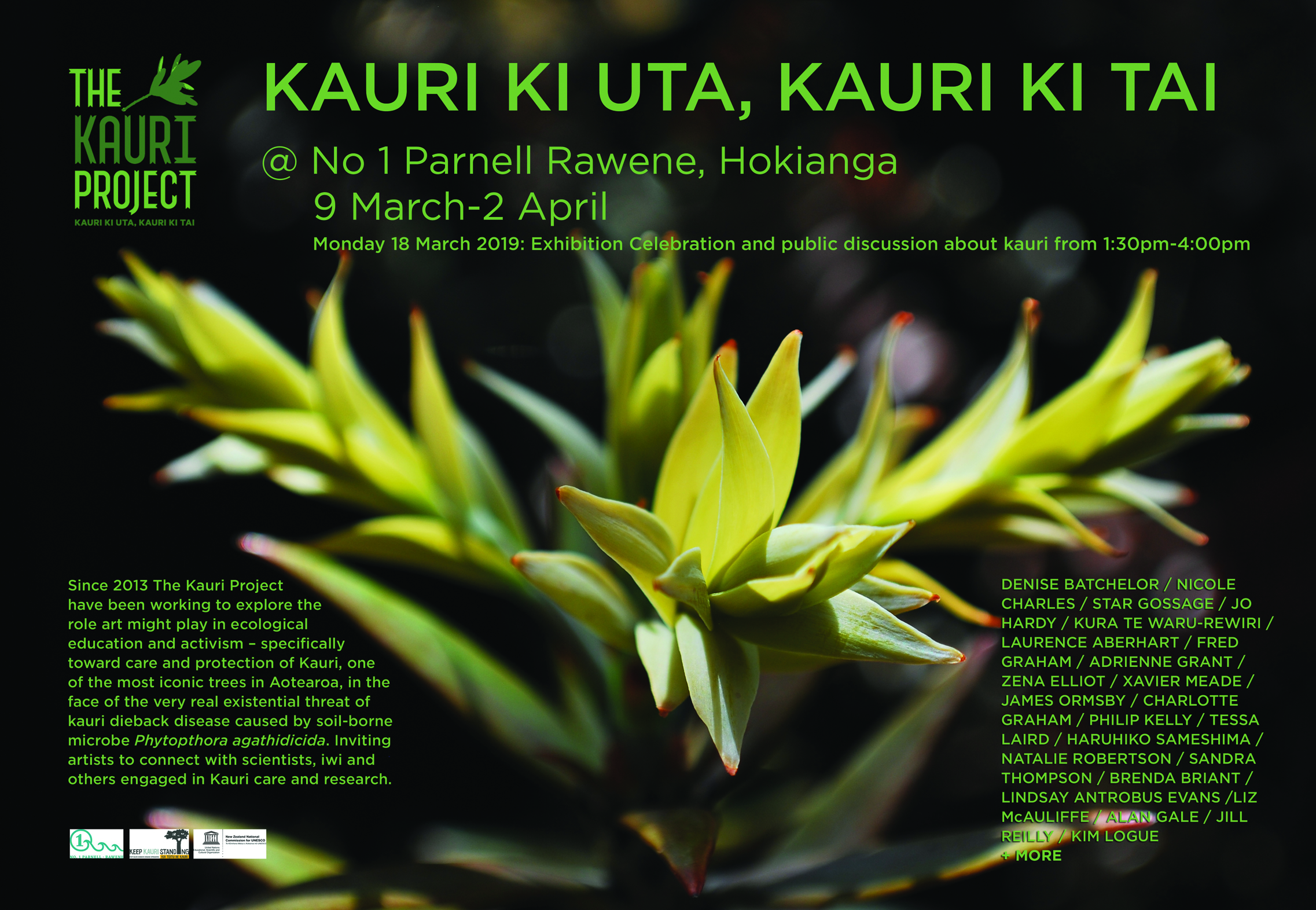 Latest exhibition - on now    Kauri ki ura, kauri ki tai: No.1 Parnell, Rawene