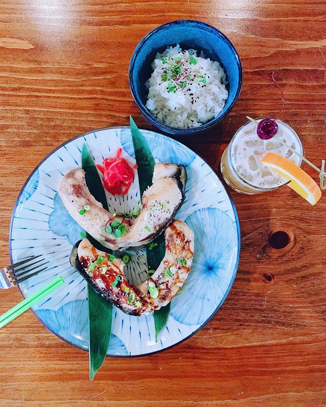 Grilled yellowtail jaw.....🍣.🎈👌 . . 😉#washingtondc #pantrythai #petworthdc #drinks #DCevents #bar #dc #WashingtonDC #acreativedc #delicious #thairestaurant #fundrinks #bythings  #vegetarian #decor #tablesetting #sushi #bentobox #beautifulmarket #cookbooks #thaigrocery #rawhoney  #maplesyrup #peanutbutterlover #oliveoils #balsamicvinegar #handwovenbasket #eatdrinkshop #yellowtailroll