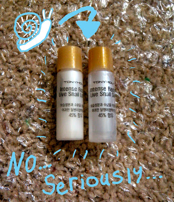 """PRODUCT REVIEW: TONYMOLY """"INTENSE REPAIR LIVE SNAIL SKIN (AND LOTION)"""""""