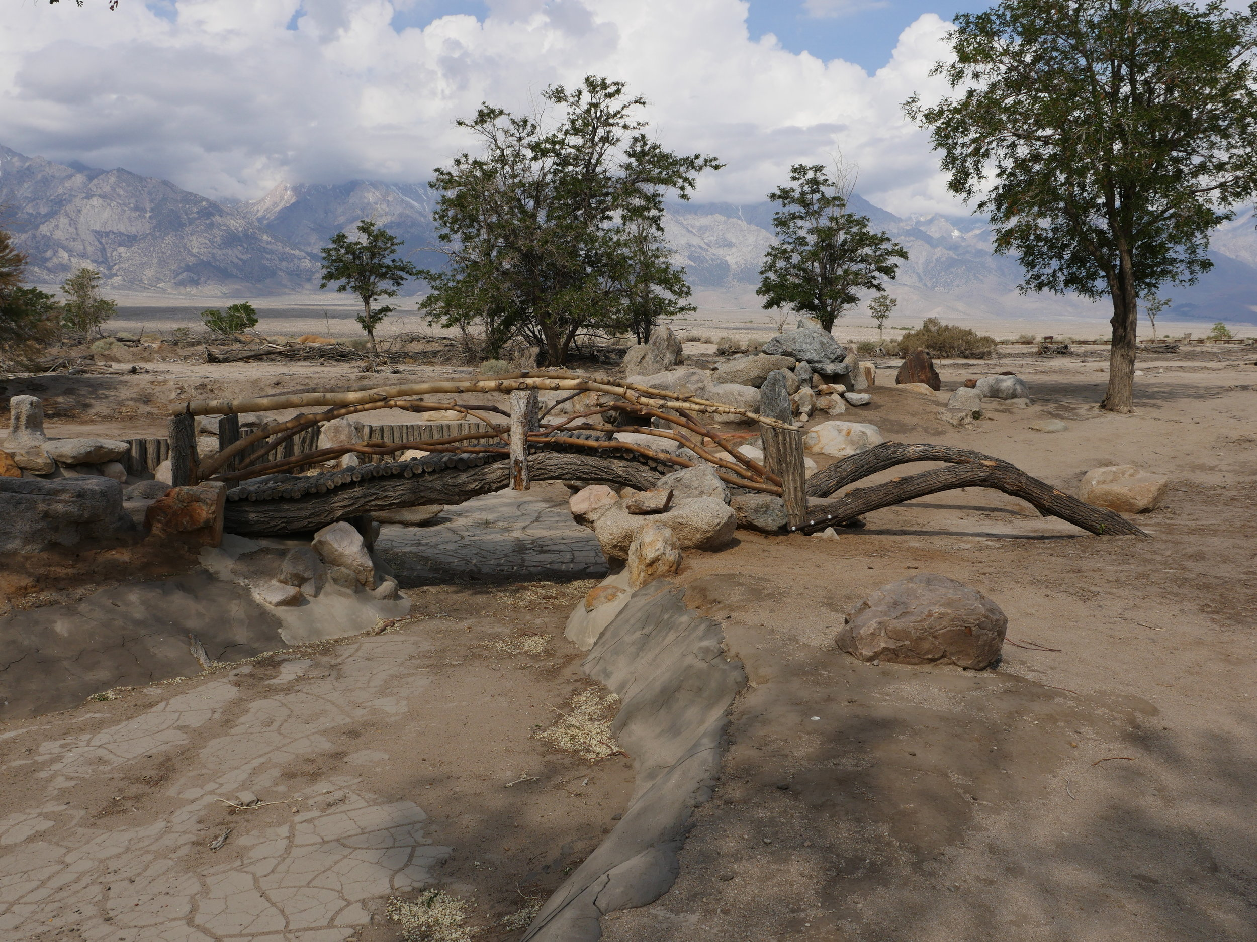 The remains of Merrit Park at Manzanar California (Image  © Anoma Pieris)