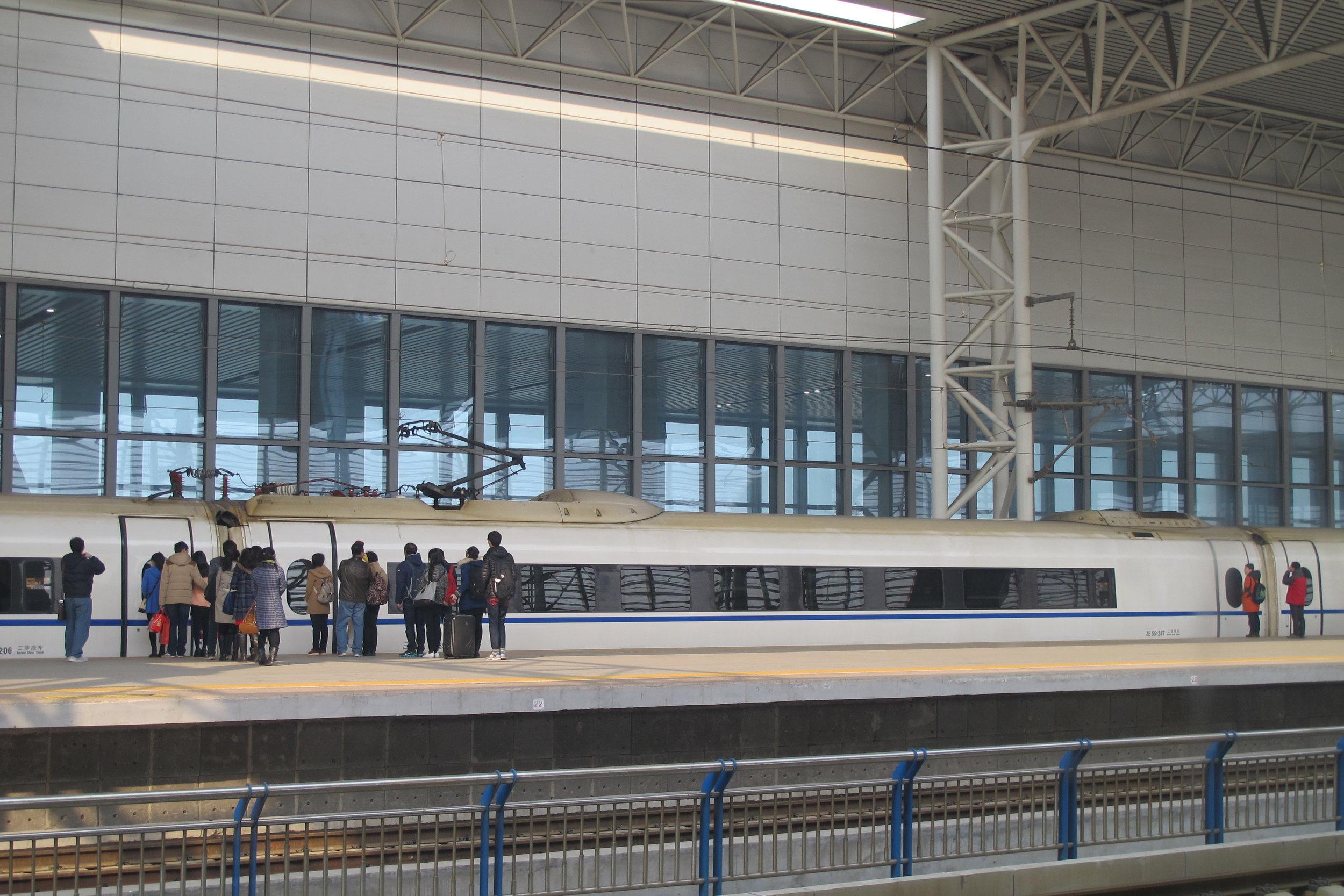 High speed train, Tianjin (Image  ©  Duanfang Lu)