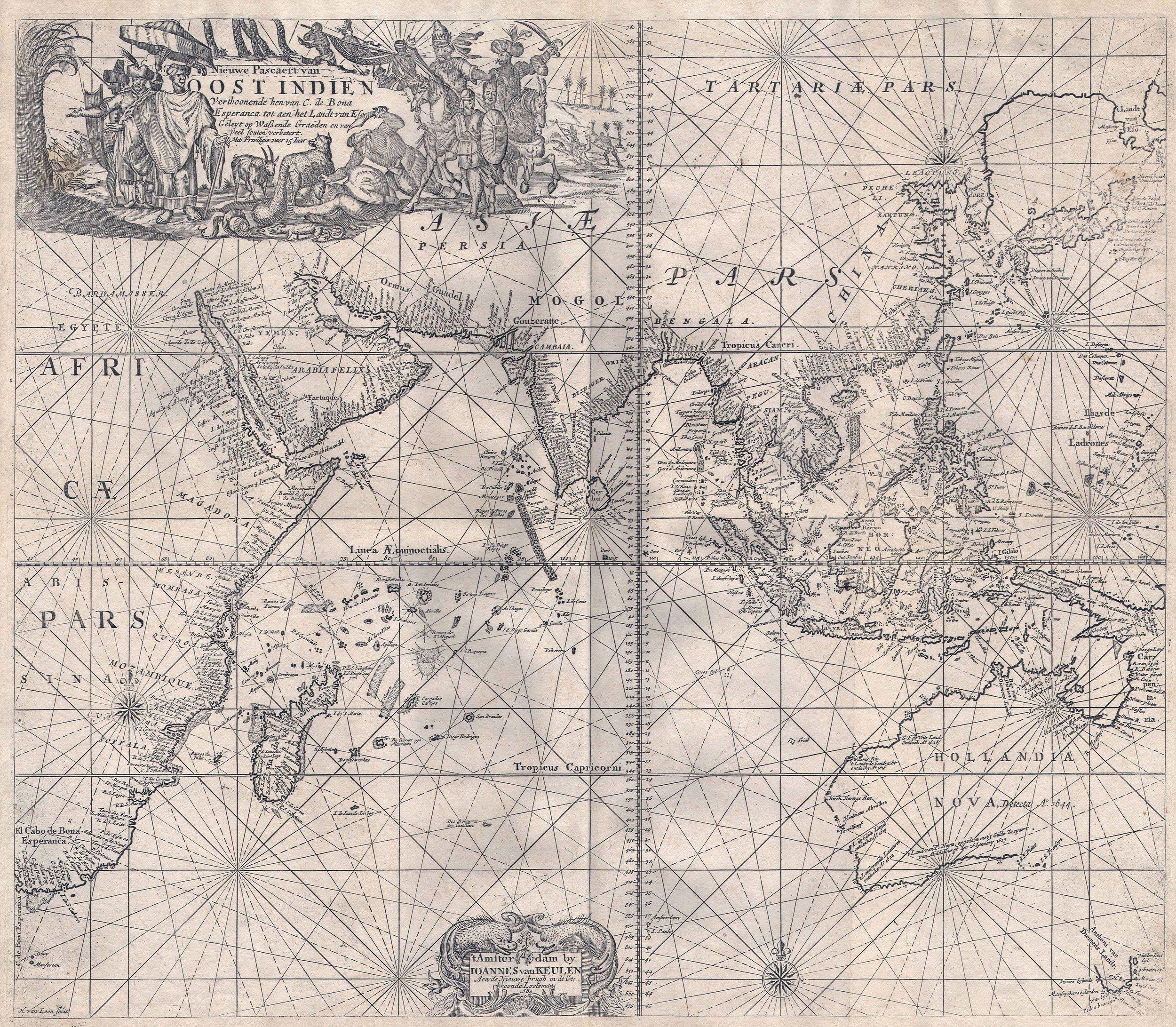 Indie 1689 (Image  © Johannes van Keulen Paskaart van Oost)