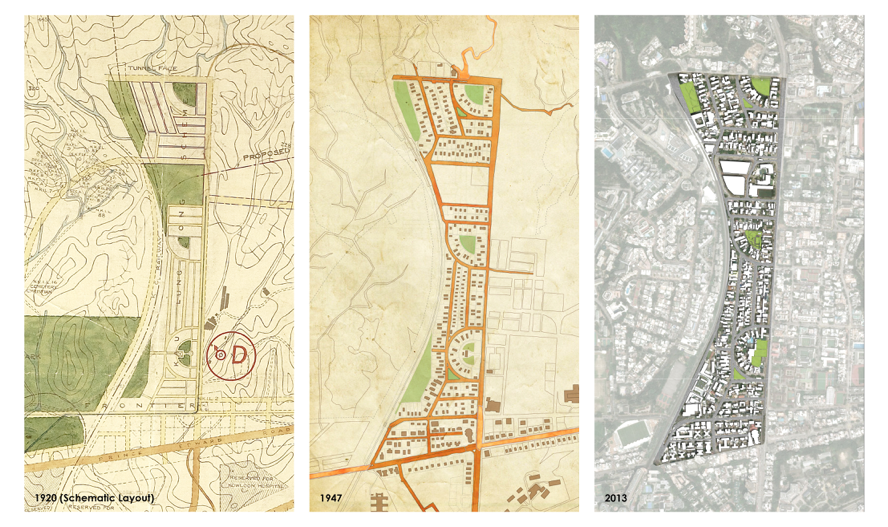 Development of the Kowloon Tong Garden City from the 1920s to the present   (Image © Cecilia Chu)