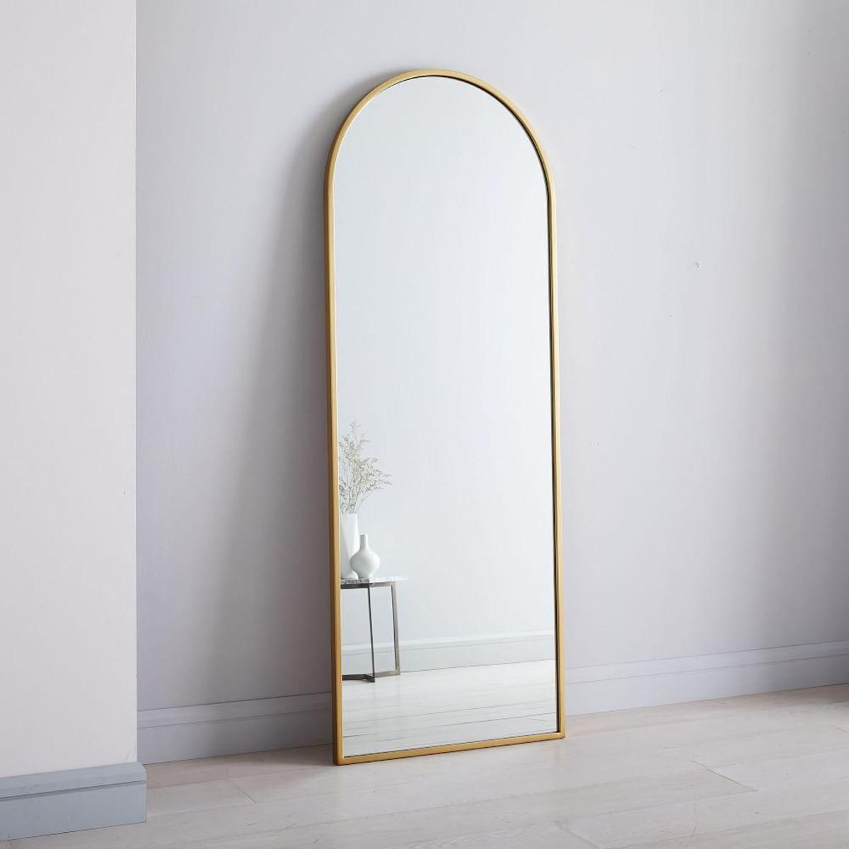 West Elm   Metal Framed Arched Floor Mirror