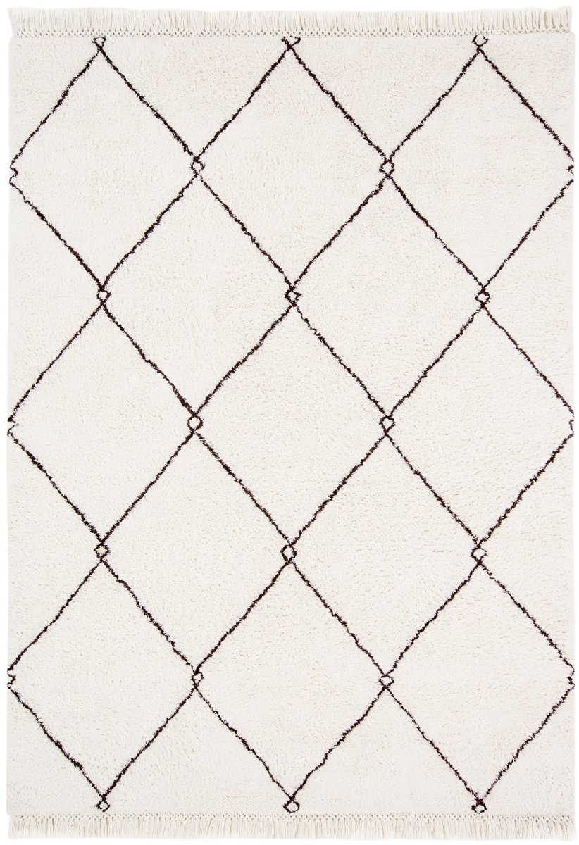 Miss Amara  White Pattern Rug