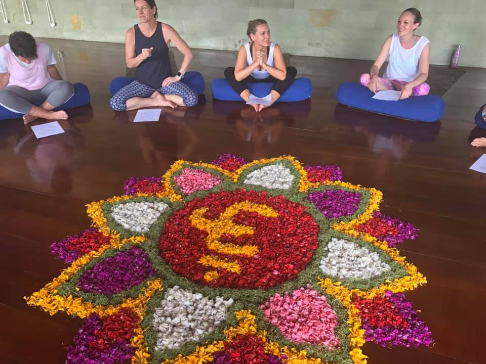 Simply divine ~ our beautiful Yoga training space in Bali