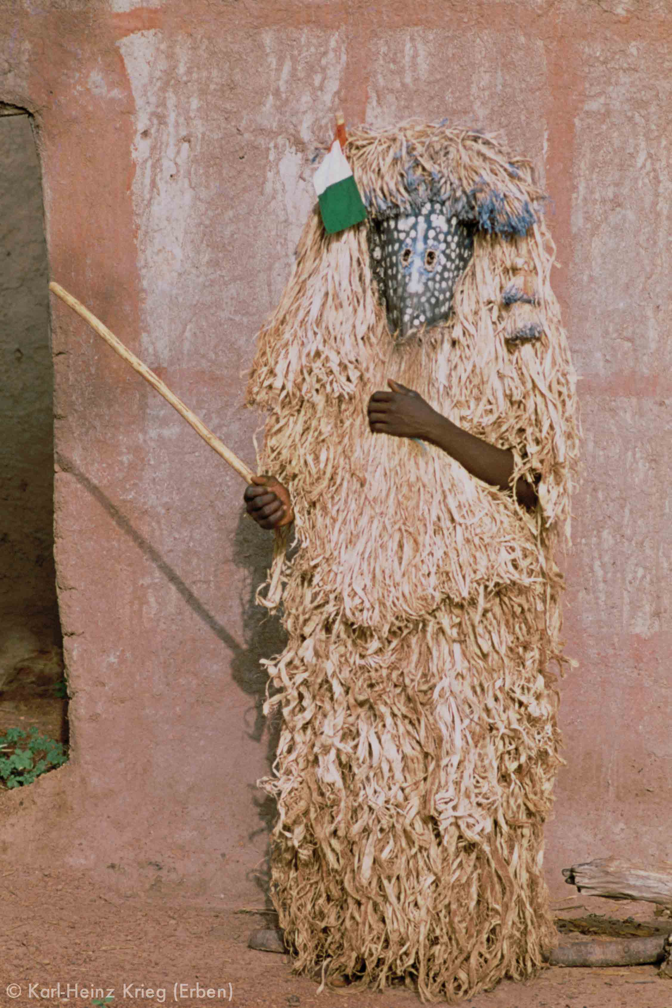 Pelerowa -Maske. Foto: Karl-Heinz Krieg, Poundiou (Region von Boundiali, Côte d'Ivoire), 1977-1979