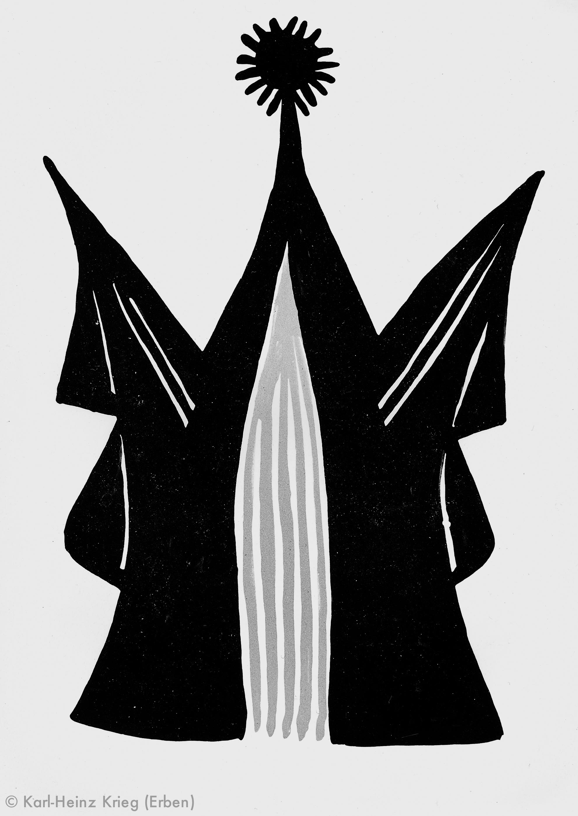 Pévé Zoumanigi Tégai, 1996 Acryl/Papier, grundiert 29,8 x 21,1 cm Werknr. 39-1996/117