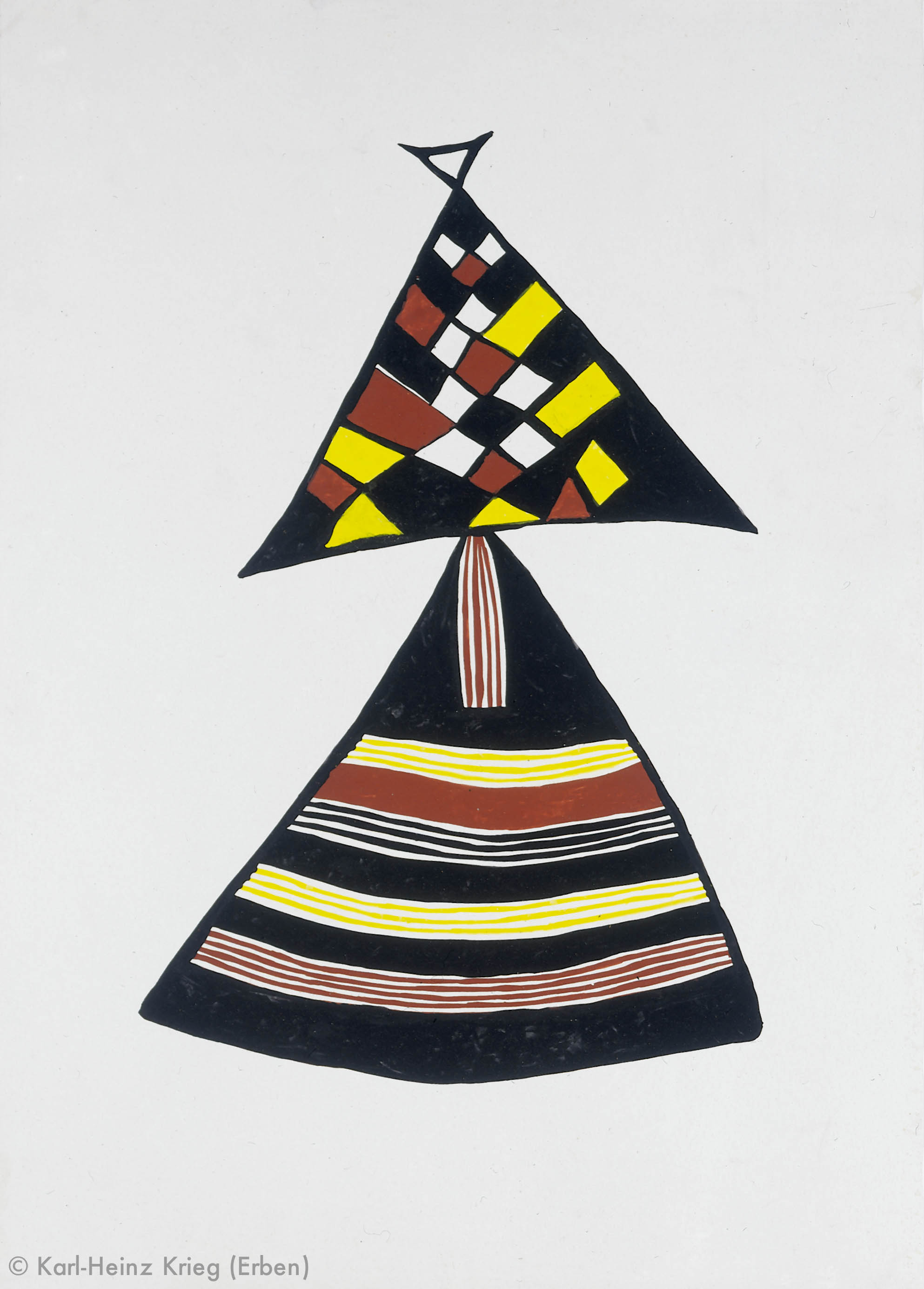 Pévé Zoumanigi Zawagi, 1996 Acryl/Papier, grundiert 83,7 x 59,1 cm Werknr. 39-1996/59