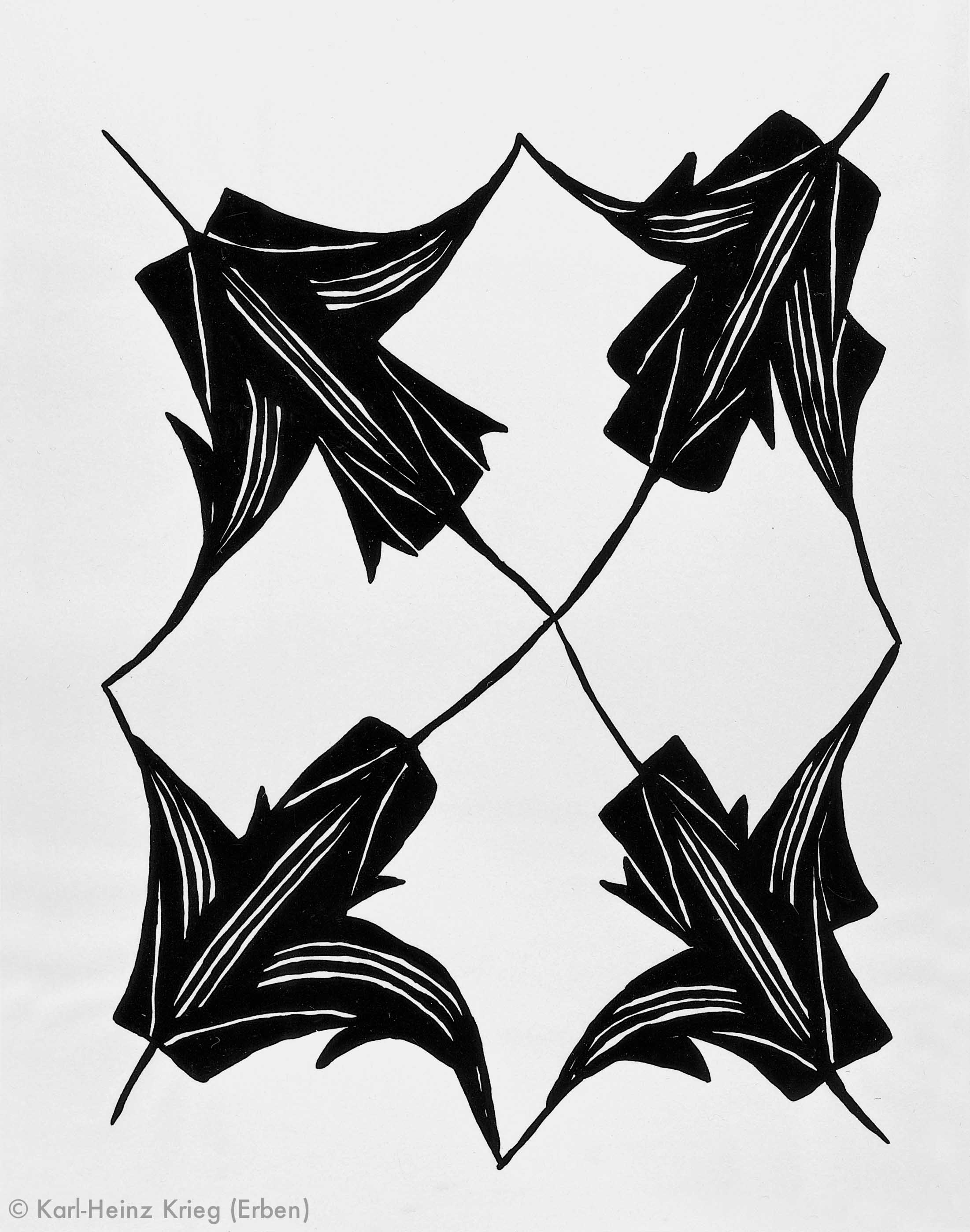 Pévé Zoumanigi Sévhézévhégoi, Stil: Zawagi, 1990 Dispersionsfarbe/Papier, grundiert 64,5 x 50 cm Werknr. 39-1990/49