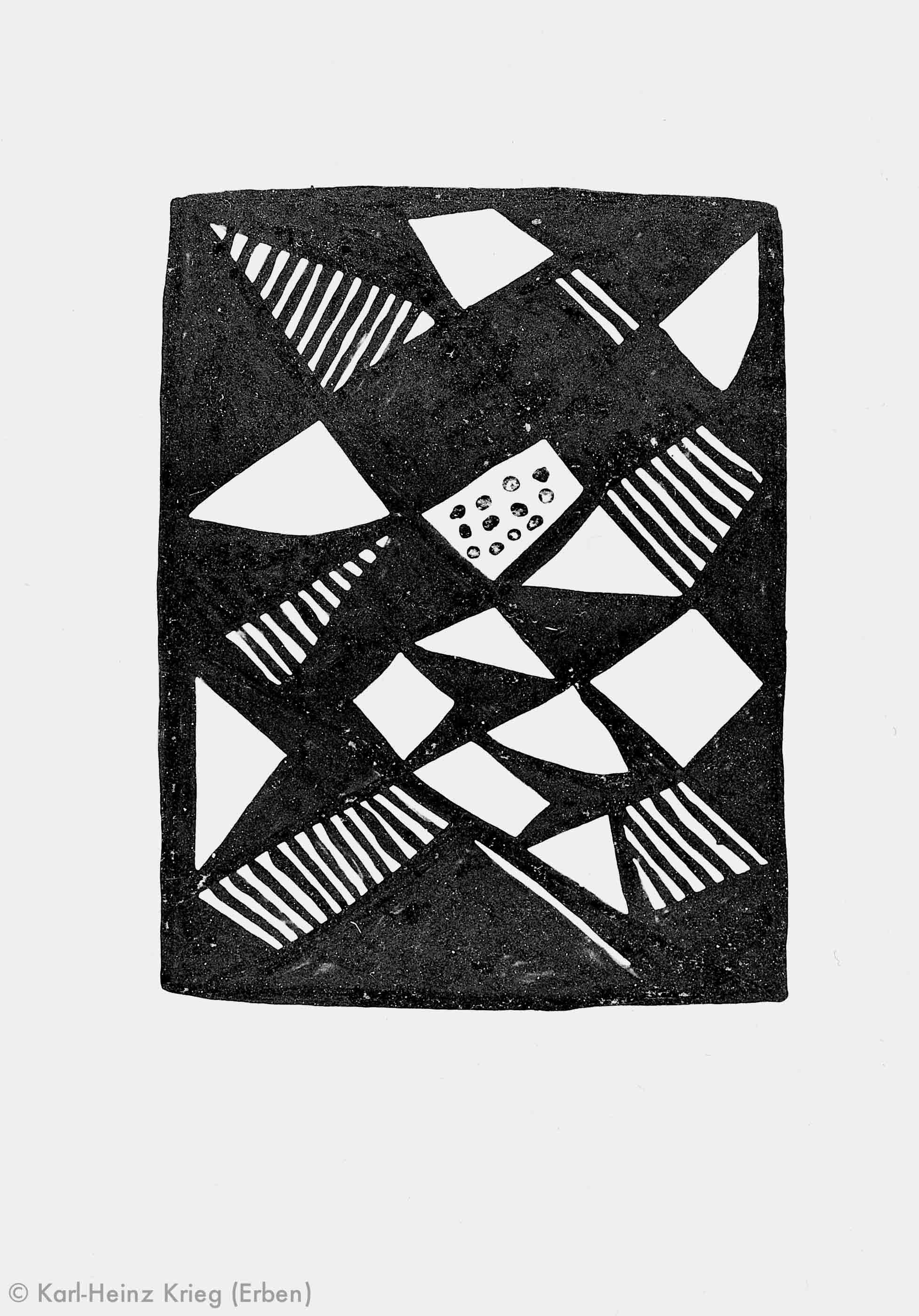 Pévé Zoumanigi Muster eines Stoffes (?), 1996 Acryl/Papier, grundiert 42 x 29,5 cm Werknr. 39-1996/3