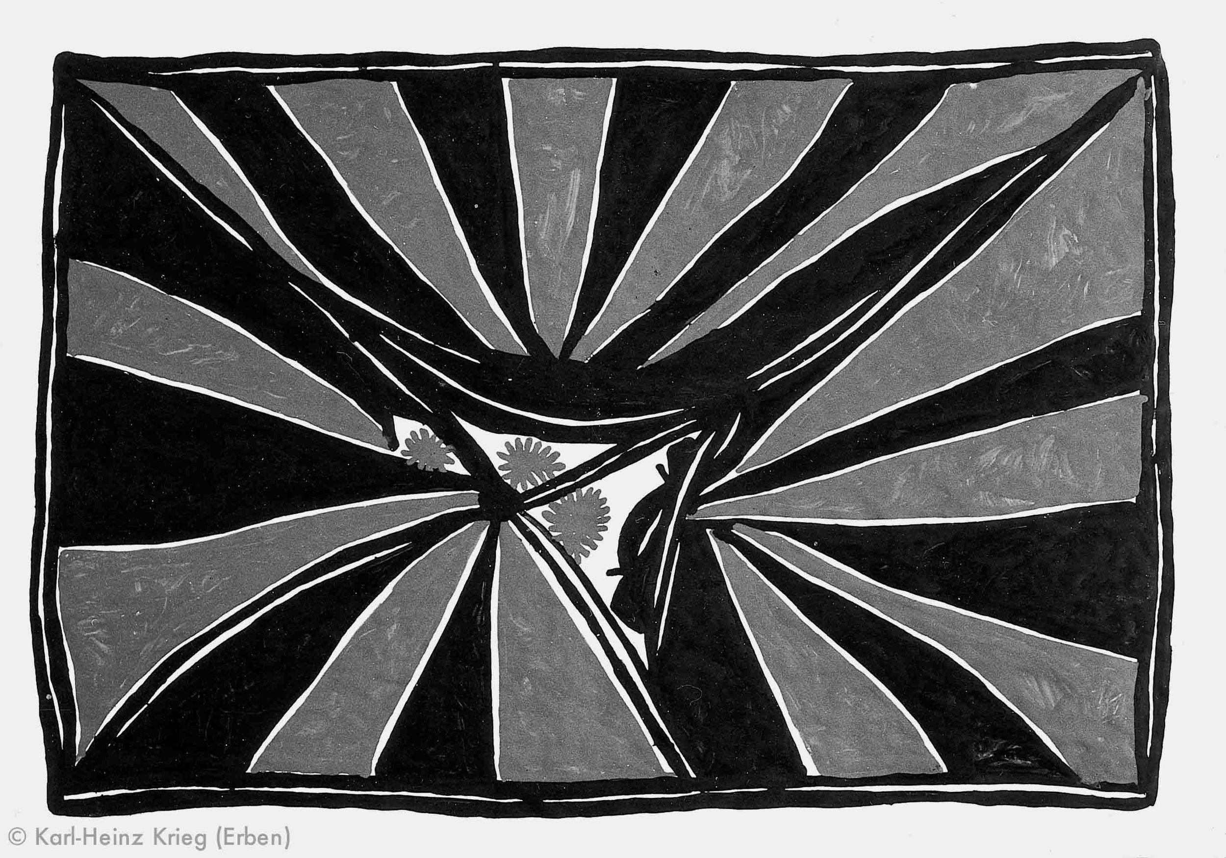 Gaou Béavogi Koiwölözeghei, 1990 Dispersionsfarbe/Papier 59 x 42 cm Werknr. 6-1990/65