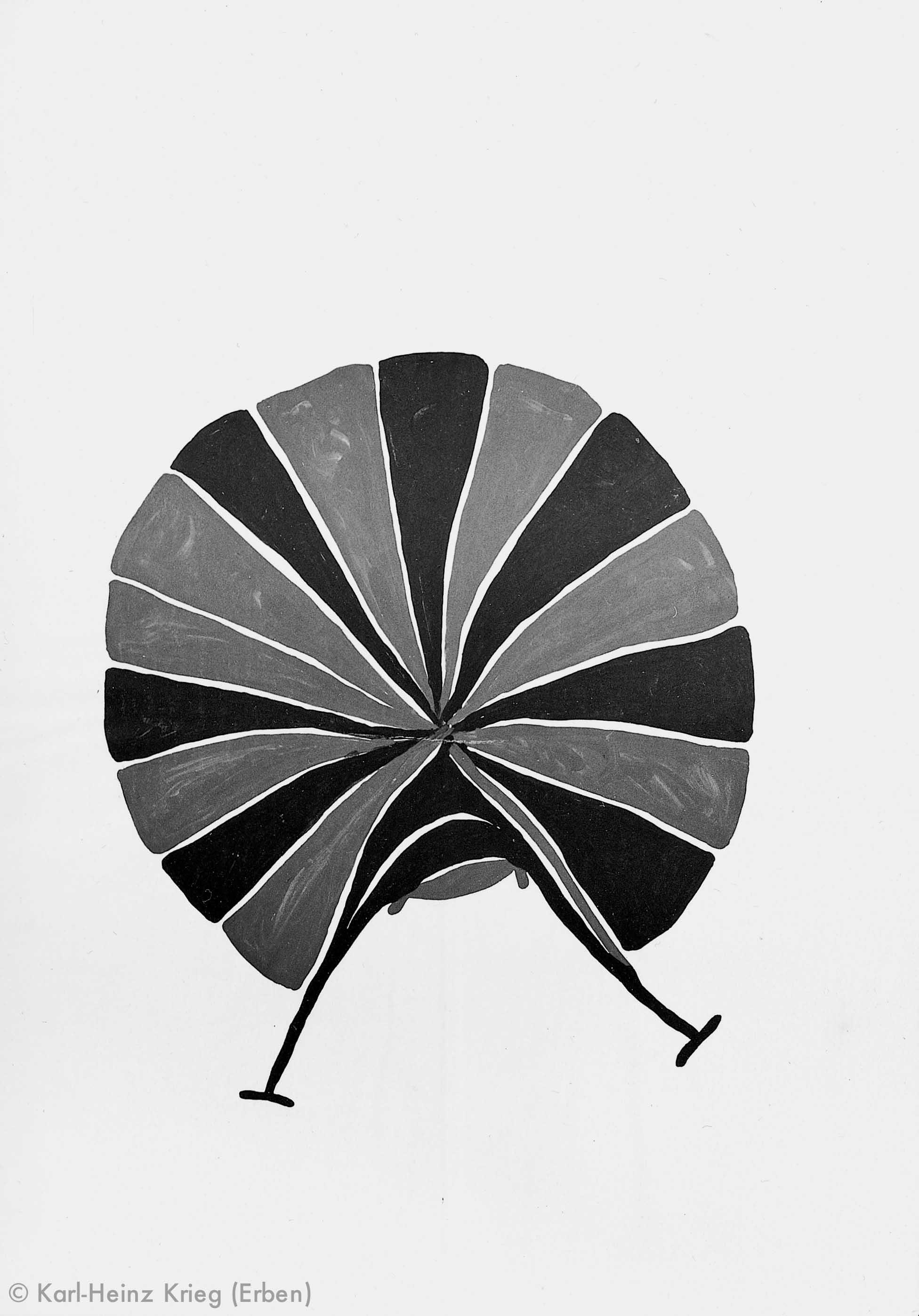 Gaou Béavogi Gozodaagi (Motiv des Gozo-Blattes), 1989 Dispersionsfarbe/Papier 59,5 x 42 cm Werknr. 6-1989/31