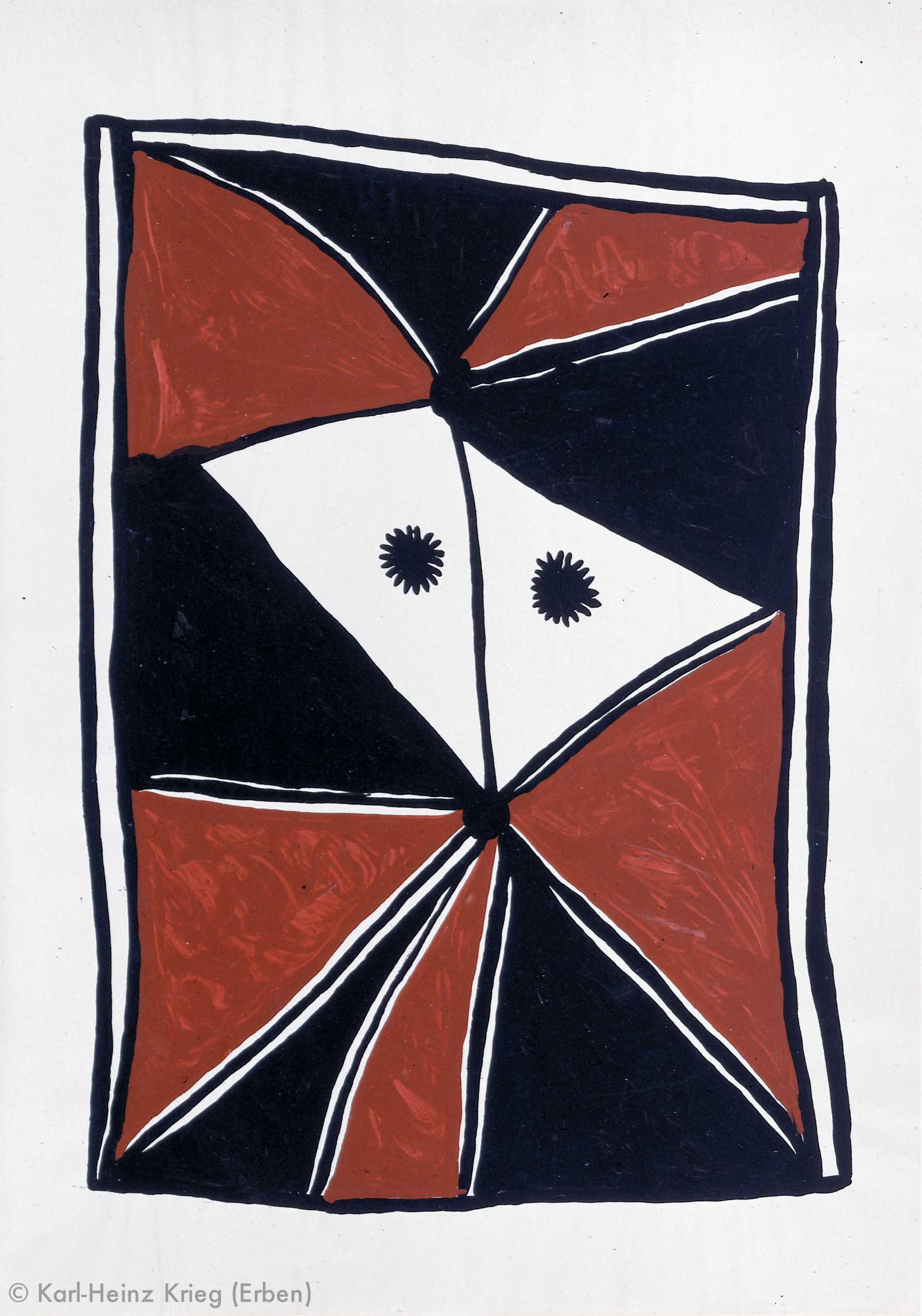 Gaou Béavogi Koiworosegué, 1989 Dispersionsfarbe/Papier 59,5 x 42 cm Werknr. 6-1989/39