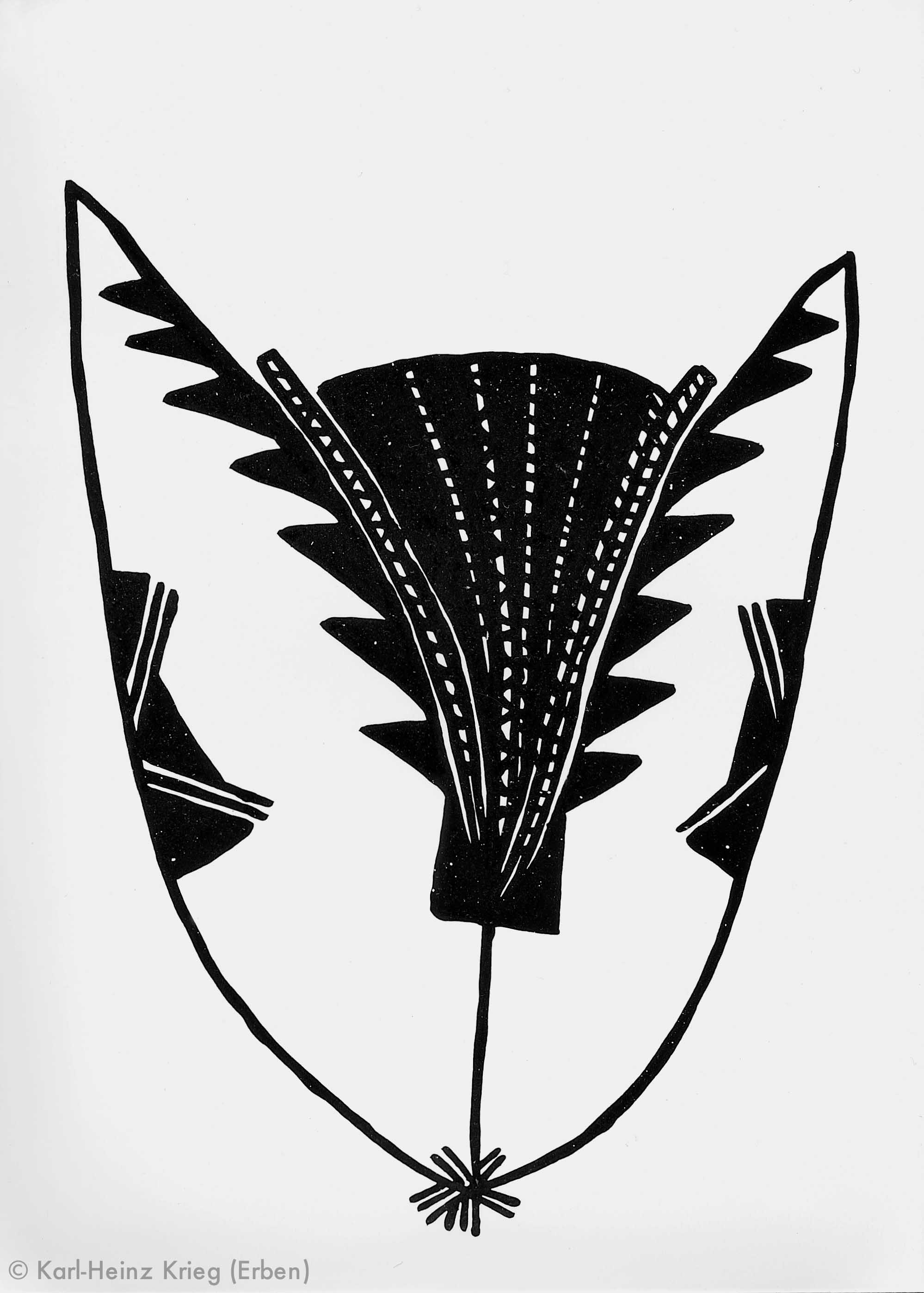 Gaou Koivogi Zapai, 1991 Dispersionsfarbe/Papier 29,5 x 41,5 cm Werknr. 25-1991/54