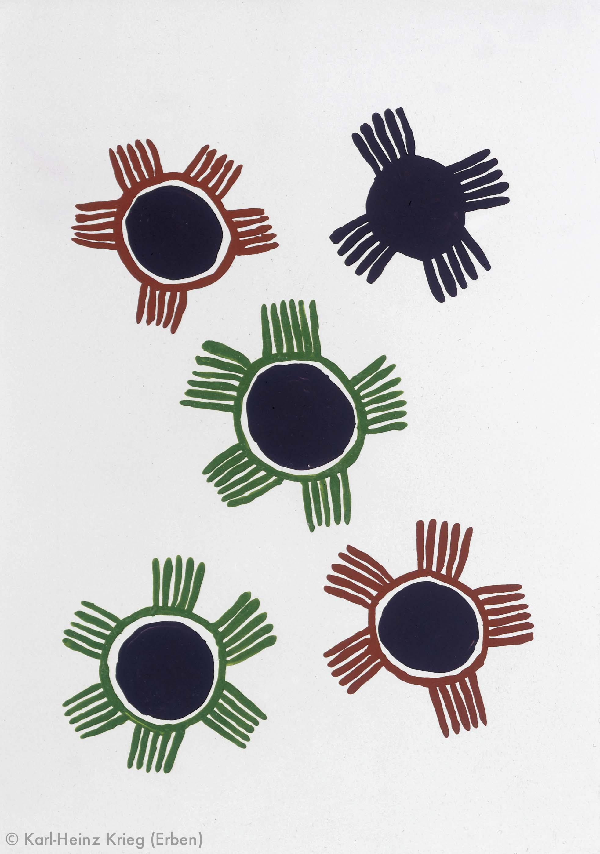 Volo Béavogi Gozokpobhogi, 1996 Acryl/Papier, grundiert 29,5 x 42 cm Werknr. 11-1996/138