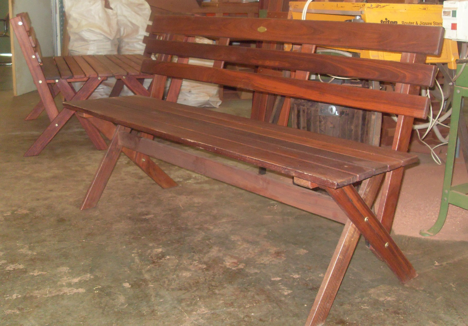 c35 X cross leg backed benches.JPG