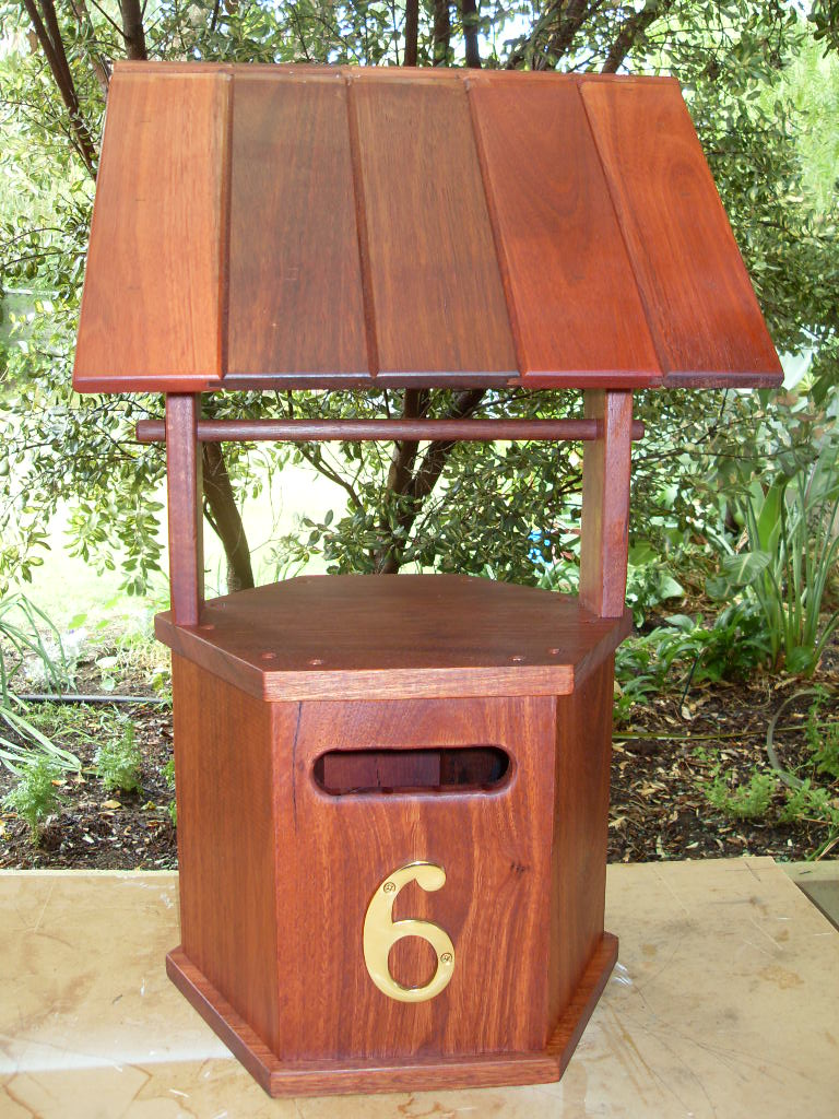 Jarrah wishing well letter box