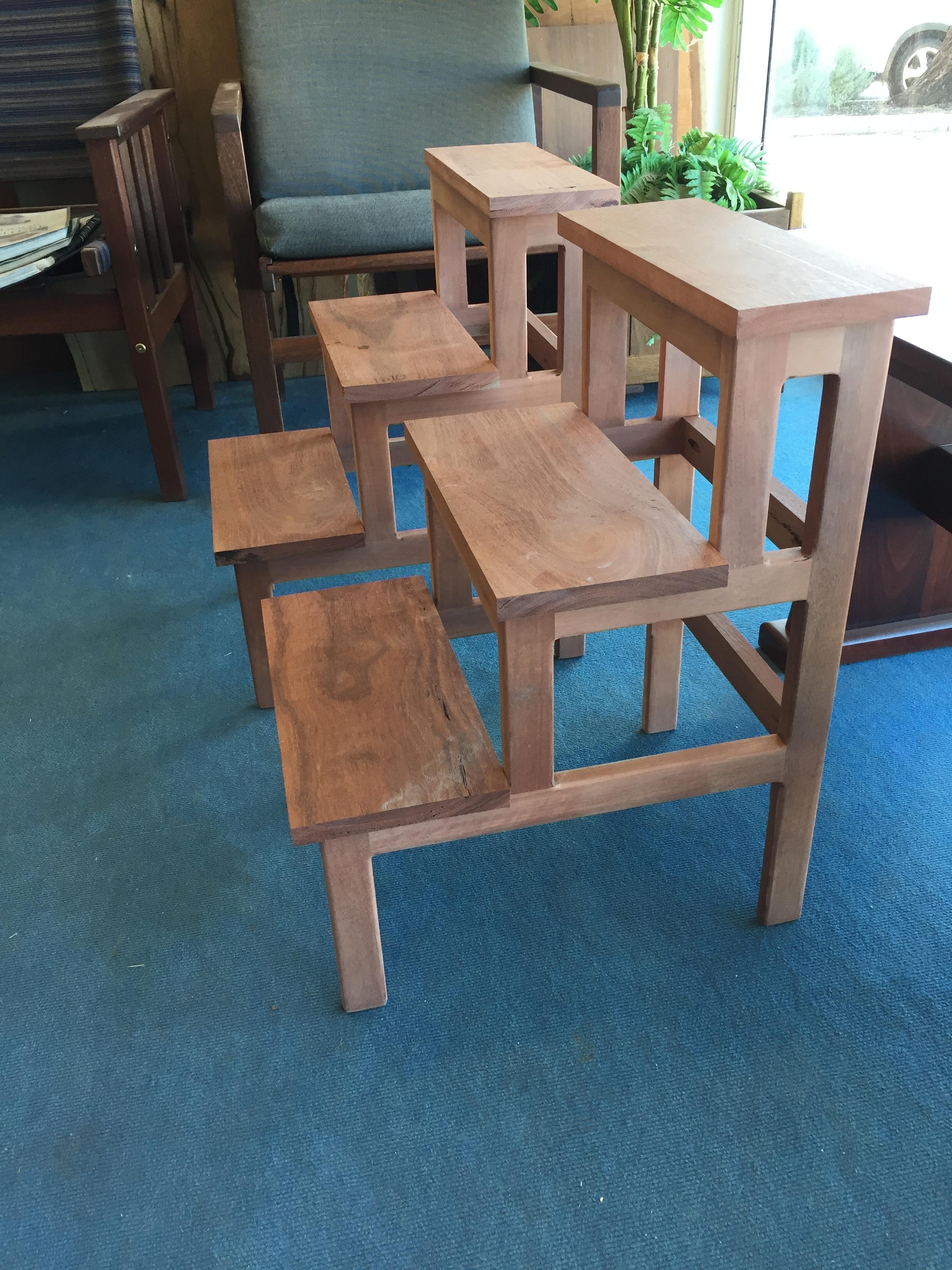 Jarrah Step stools in progress