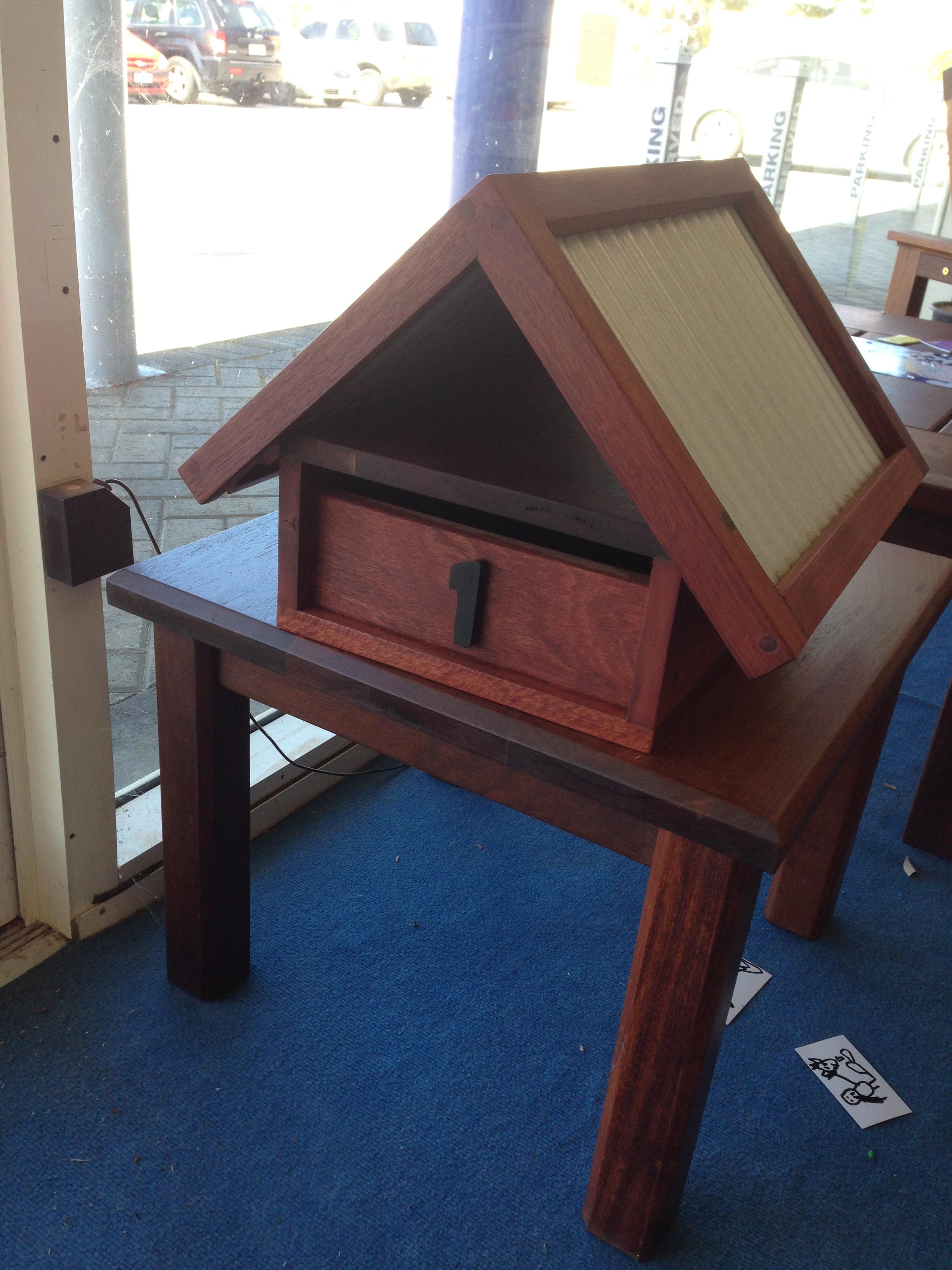 Jarrah letter box - extra large