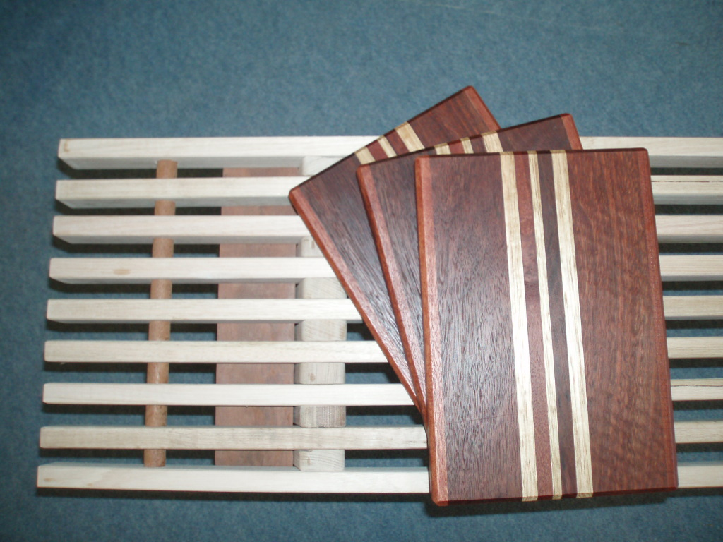 Jarrah and Tassie chopping boards
