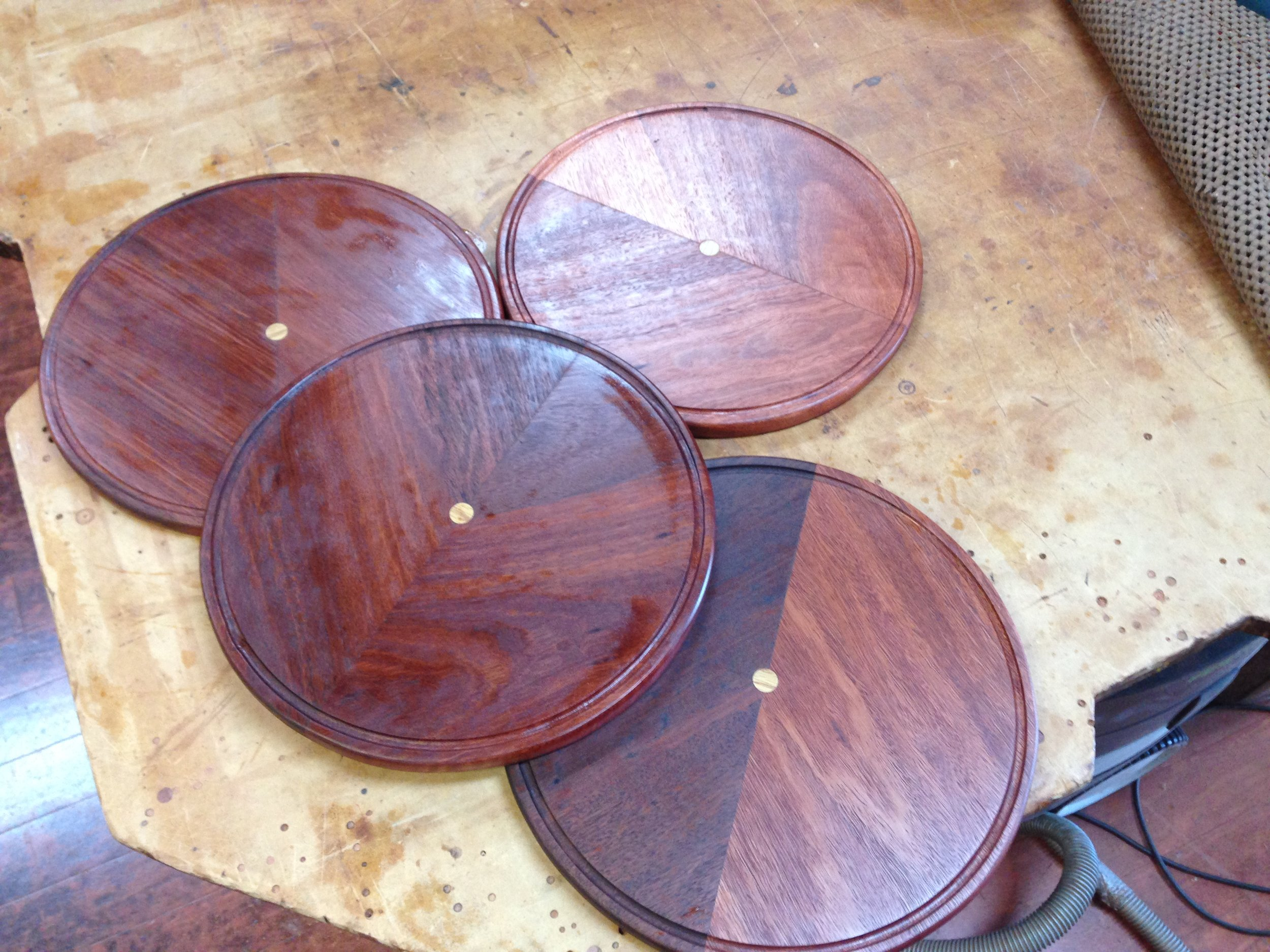 Jarrah cake dome boards