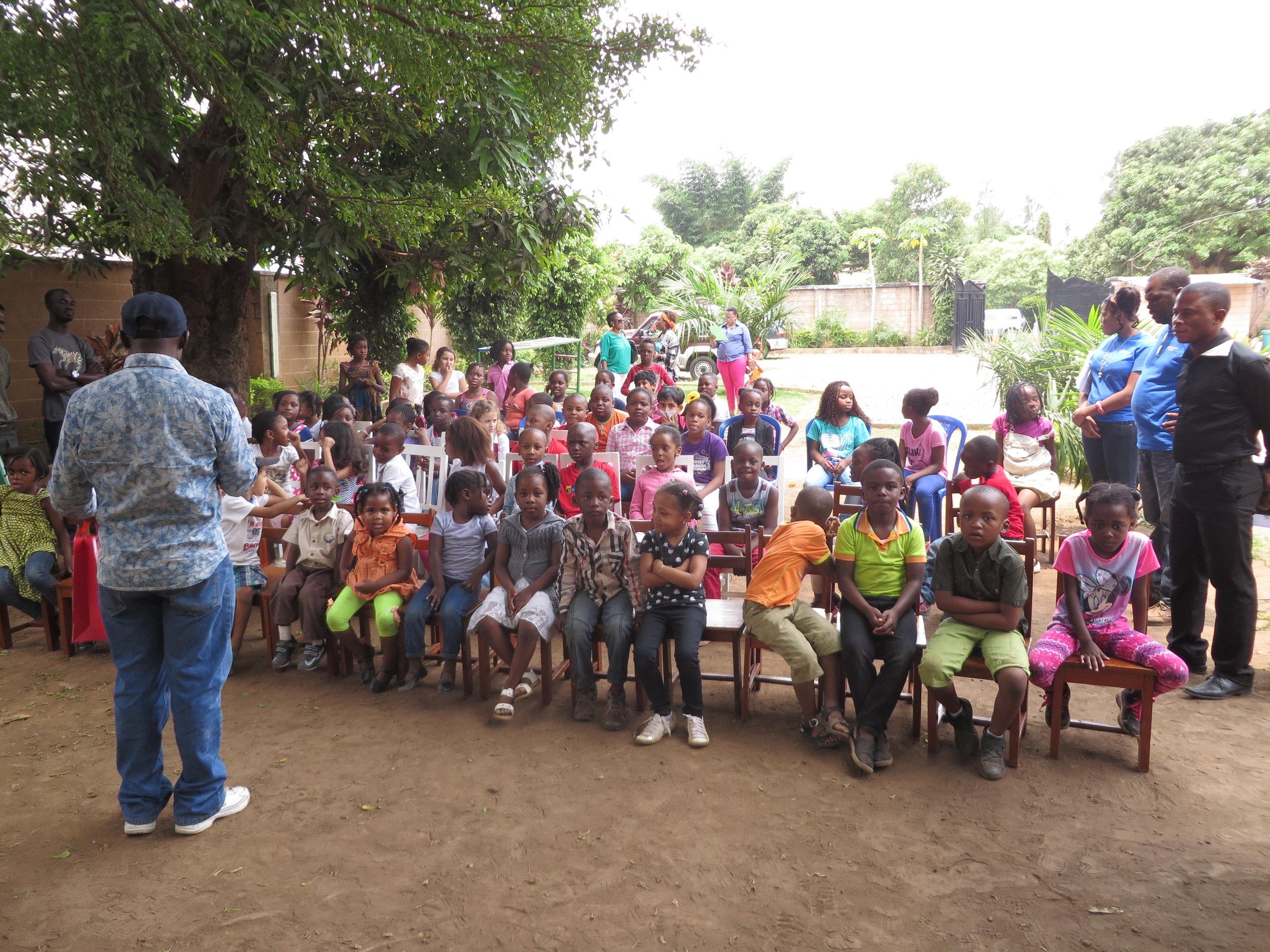 weekly assembly at kaozi campus