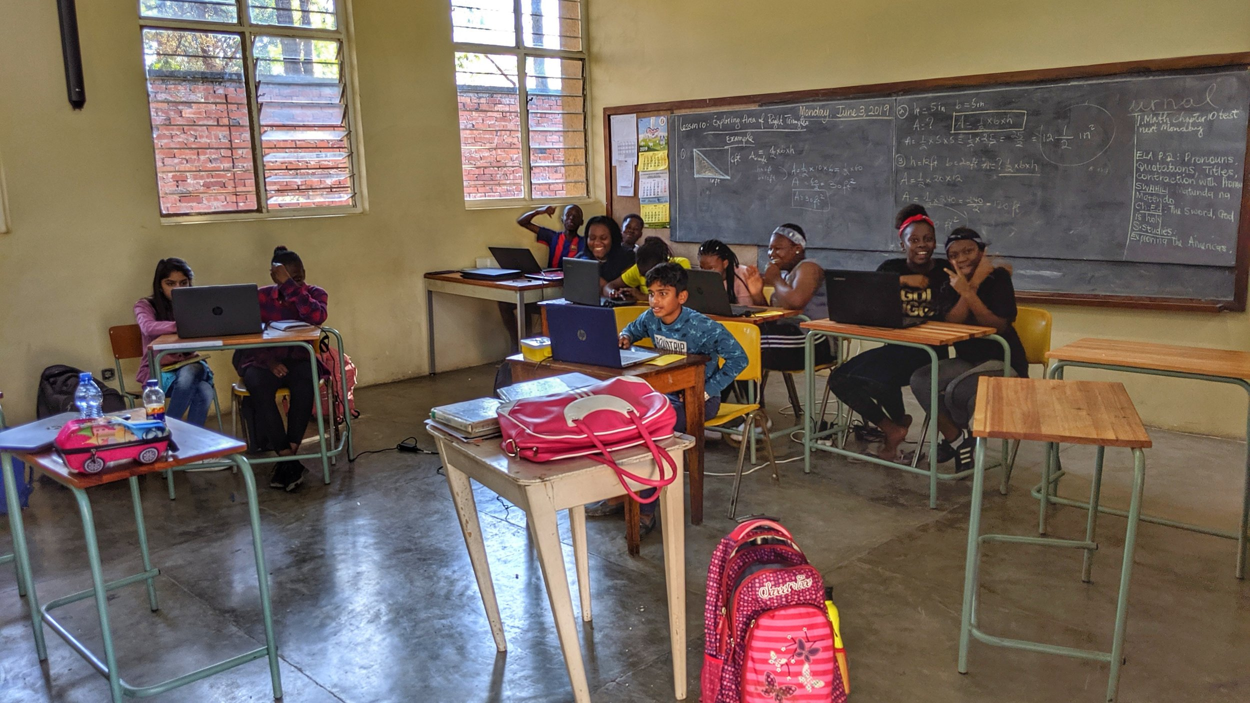 Grade 6 during a high spirited Computer lesson