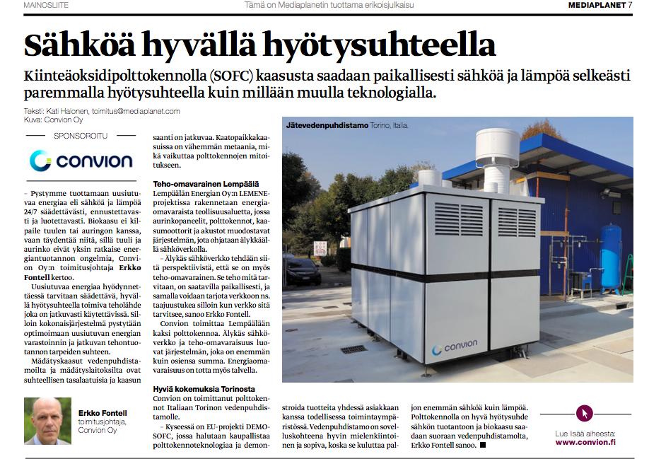 Liite ollut Helsingin Sanomien välissä 13.6.2018