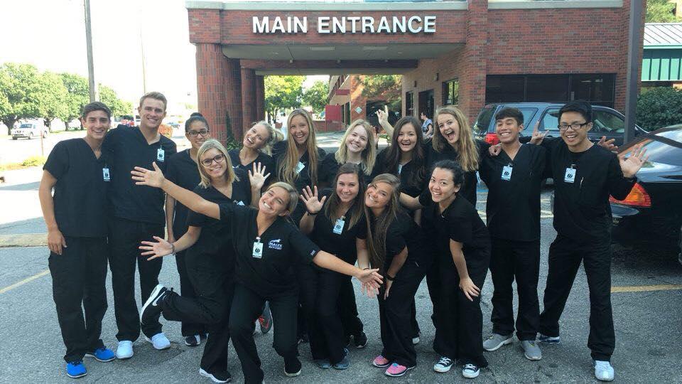 Nursing and Medical Students Posing together