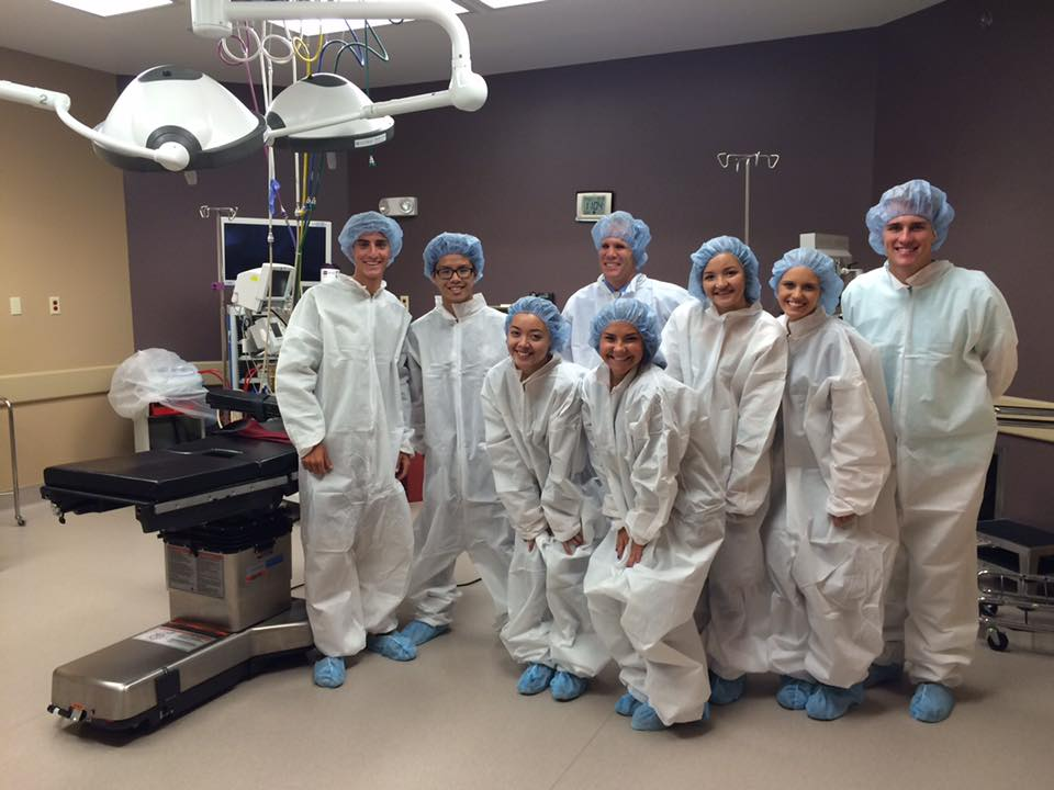 Medical Students in surgical uniforms