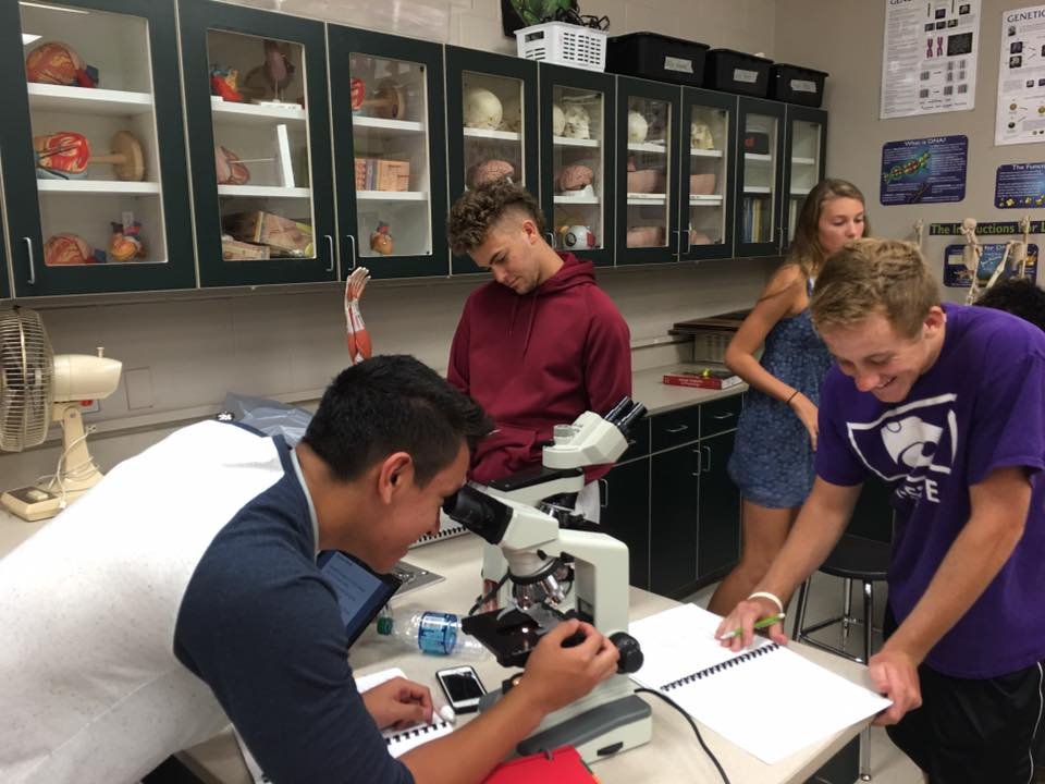 Maize South students working together in Science Class
