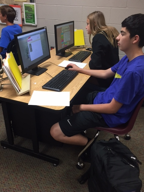 Students in Maize South's Business Communications classes.