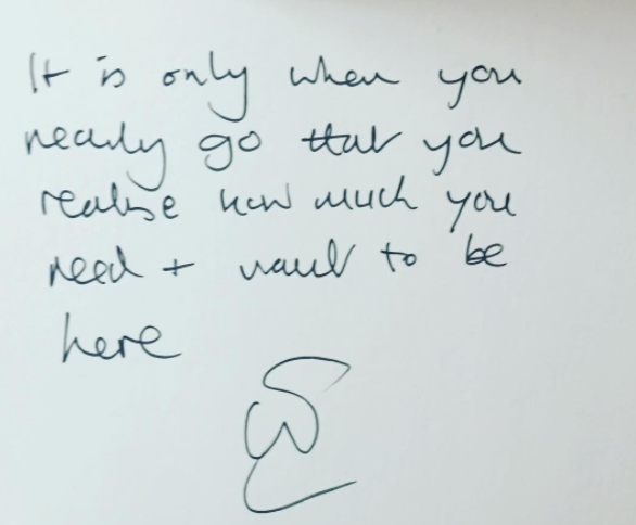 """""""It is only when you really go that you realise how much you need and want to be here"""" #unsaid #lifedeathwhatever"""