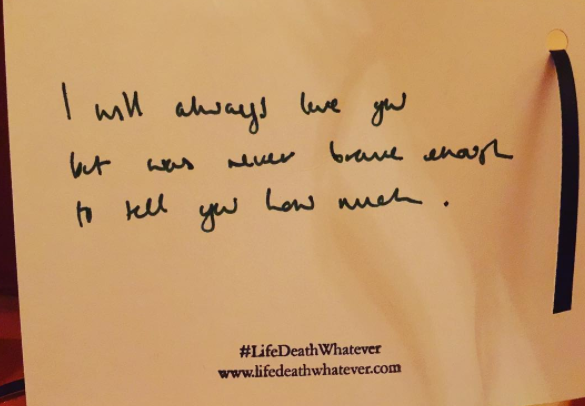 """I will always love you but was never brave enough to tell you how much."" #unsaid #lifedeathwhatever"
