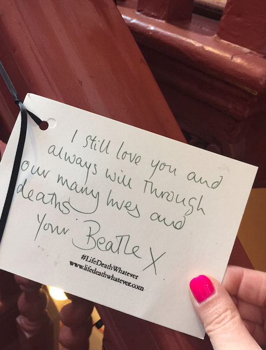 """I still love you and always will through our many lives and deaths. Your Beatle x"" #unsaid #lifedeathwhatever"