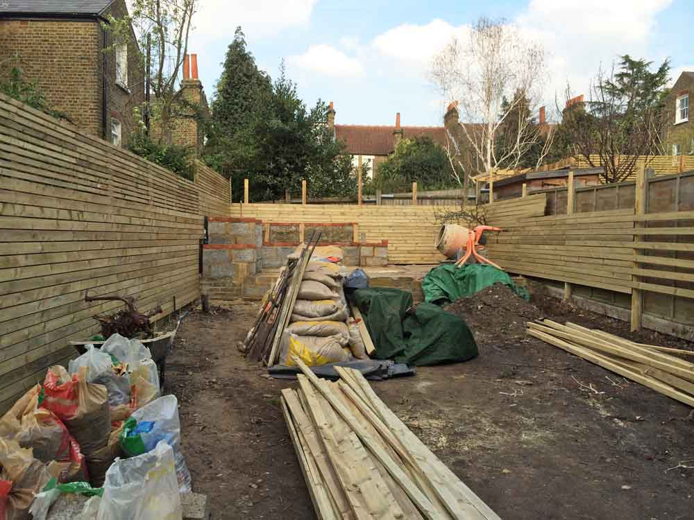 Cat Datta Garden Design - site cleared