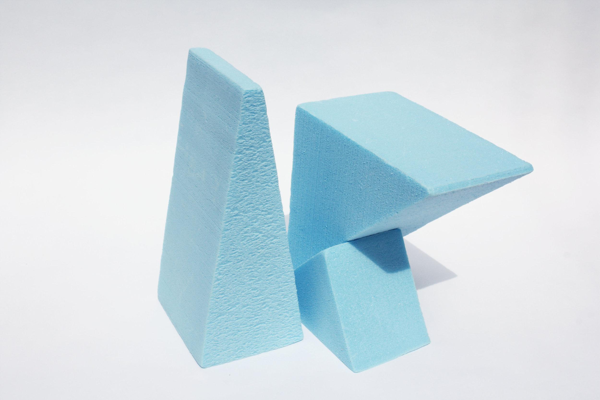 Industrial blue foam Waste