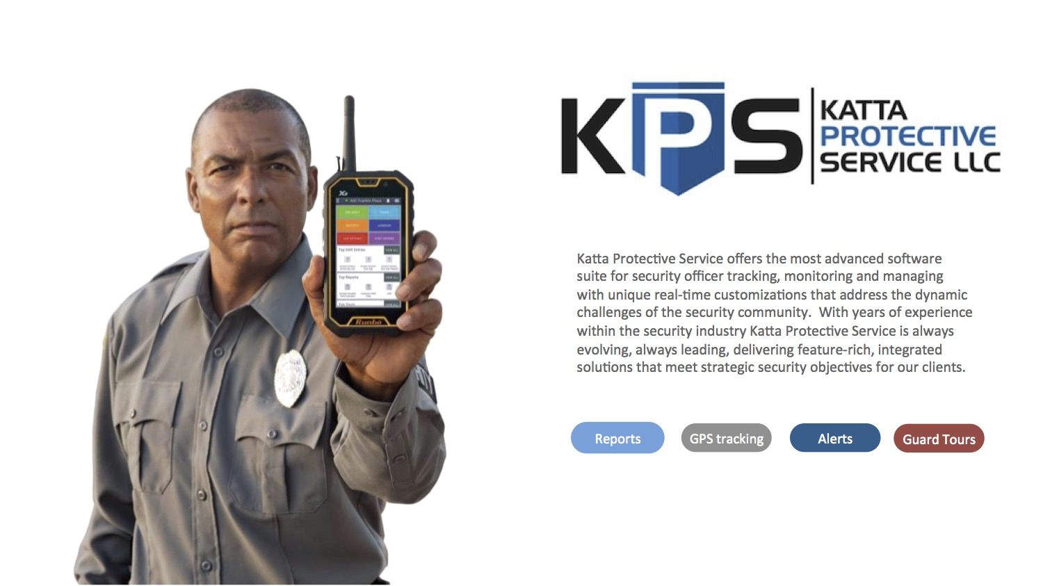 Utilizing GuardTek Post with a KPS provided desktop computer or laptop all of our personnel are connected with both you and our command center via the cloud.