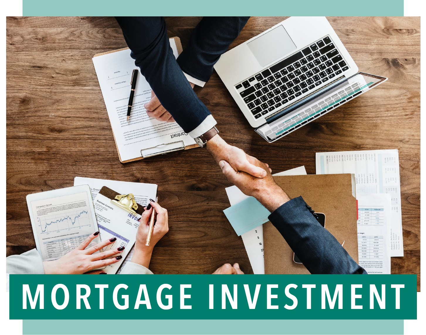 - When you invest in mortgages, you become the bank. In other words, instead of investing in the real estate, you invest in the loan or mortgage which is secured by the real estate. If you want relative safety and security, invest with a mortgage investment company. Invest with us—Brownstone.