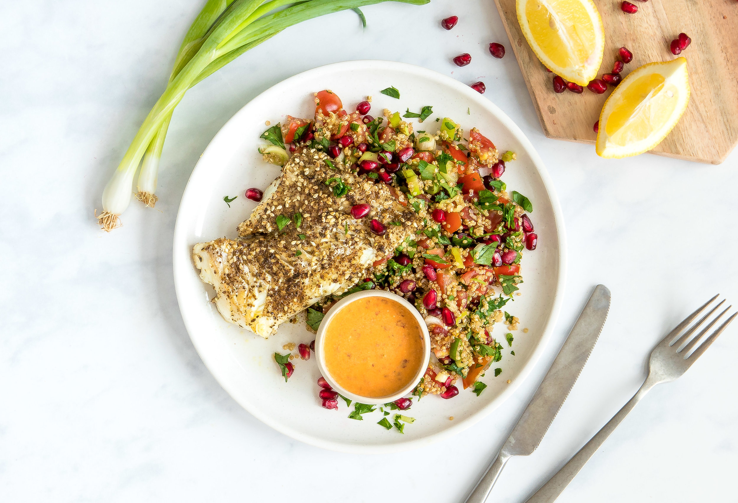 Za'atar ling, pomegranate quinoa tabbouleh_1rs.jpg