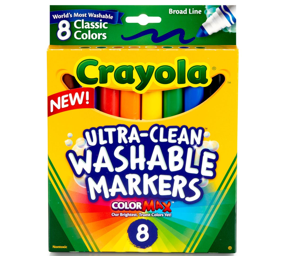(1) Box of Washable Markers - Approximate Cost $1.99